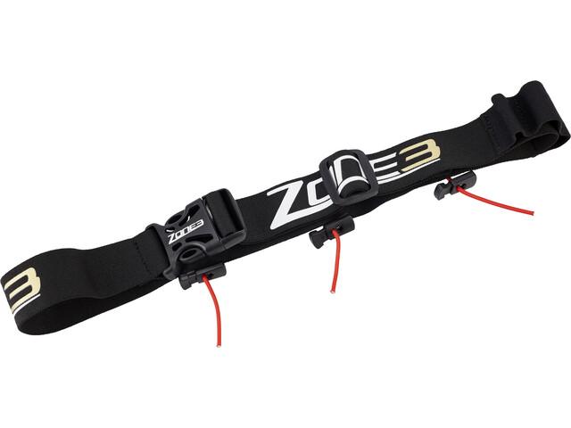 Zone3 Race Belt with Gel Loops, black/gold